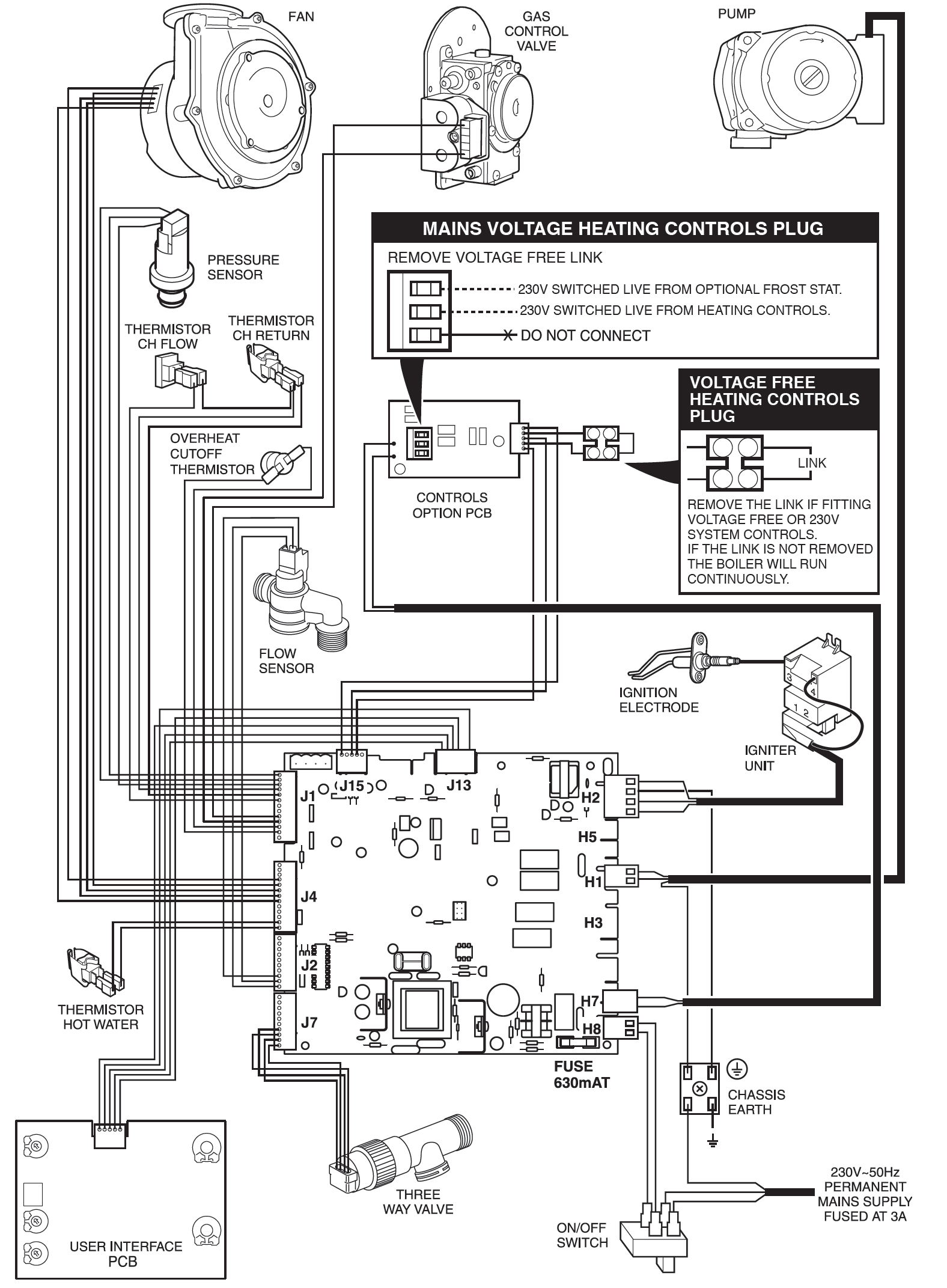 ask glow worm enviroplus wiring diagram for versions the symsi 7 0 pcb