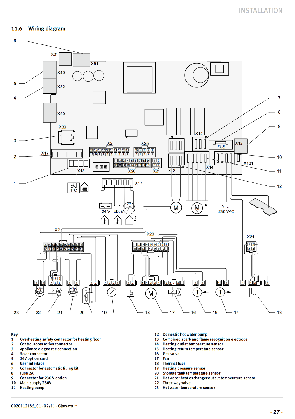 ask glow worm ultracom 2 store internal wiring diagram
